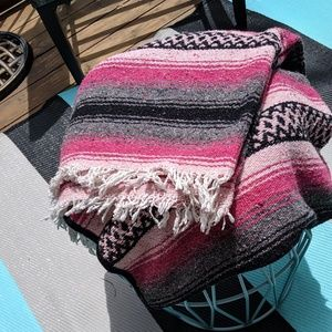 Other - Stunning pink large Mexican Blanket !